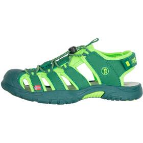 TROLLKIDS Kvalvika Sandals Kids, dark green/light green
